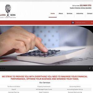 Lion and Son website